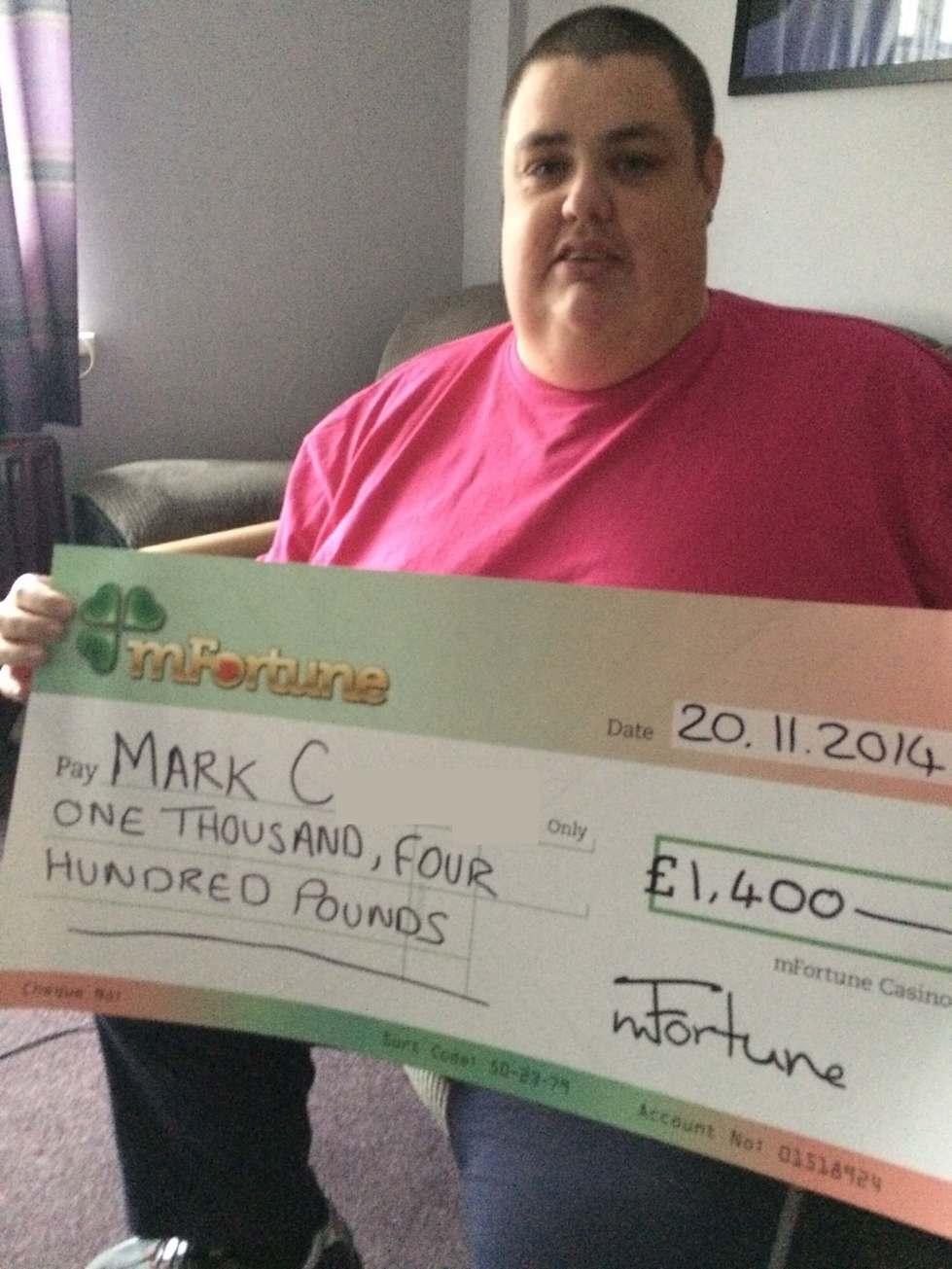 Mark C won £ 1,400
