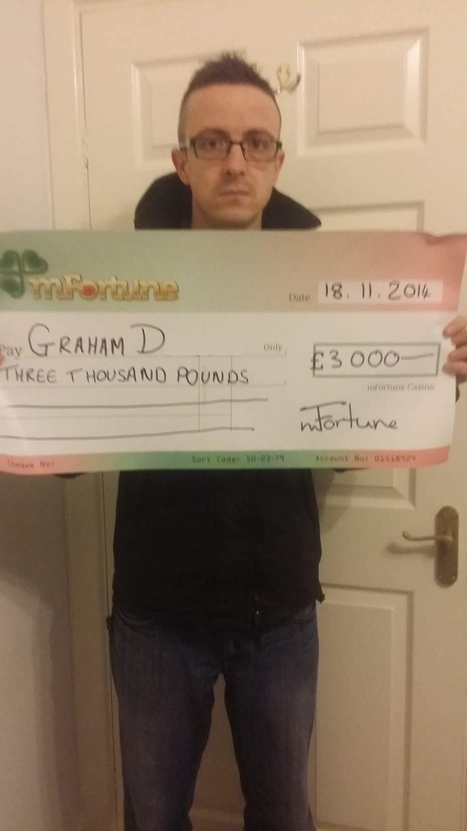 Graham D won £ 3,000
