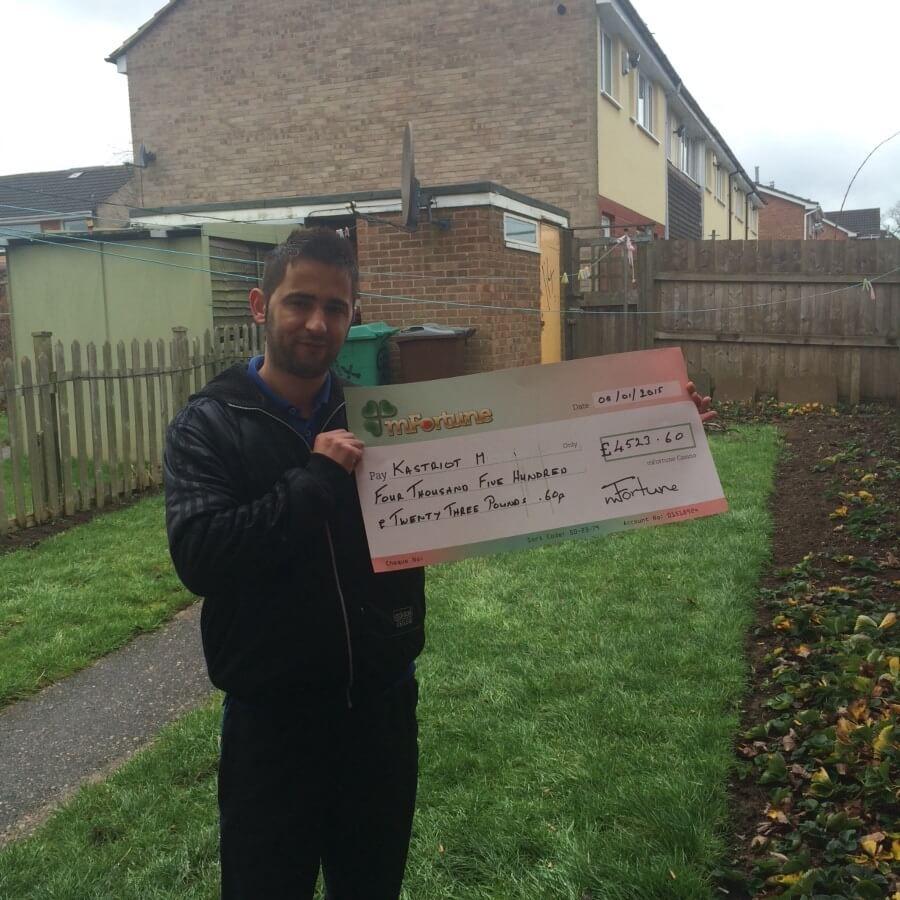 Kastriot M won £ 4,523