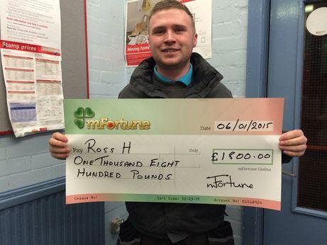 Ross H won £ 1,800