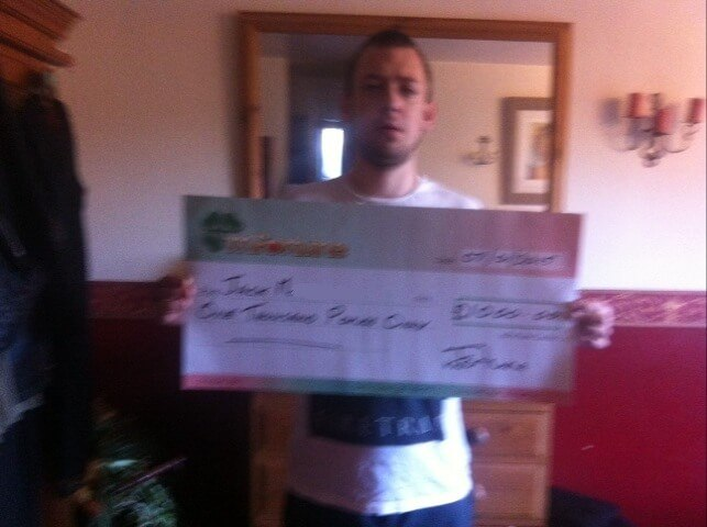 Jack M won £ 1,000
