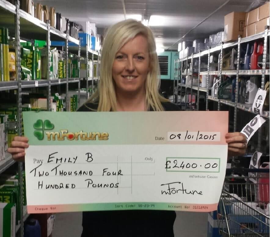 Emily B won £ 2,400