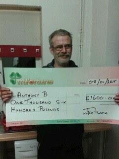 Anthony B won £ 1,600