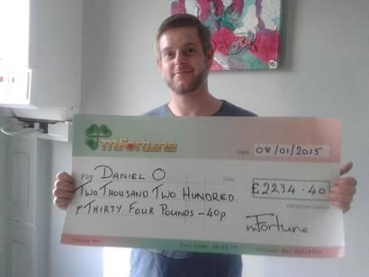 Daniel O won £ 2,234