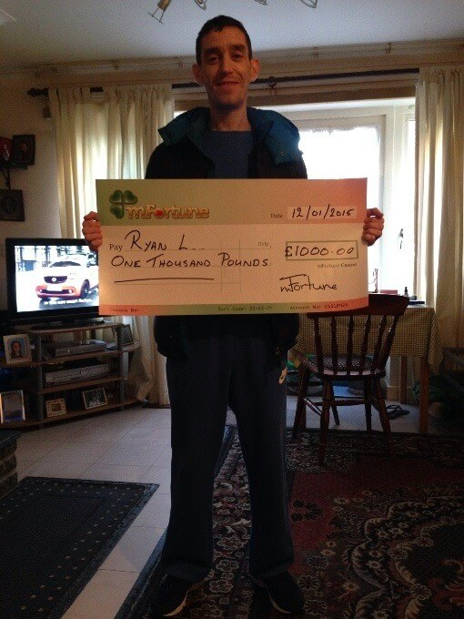 Ryan L won £ 1,000