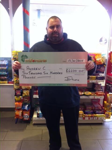 Andrew C won £ 6,600