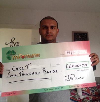 Carl T won £ 4,000