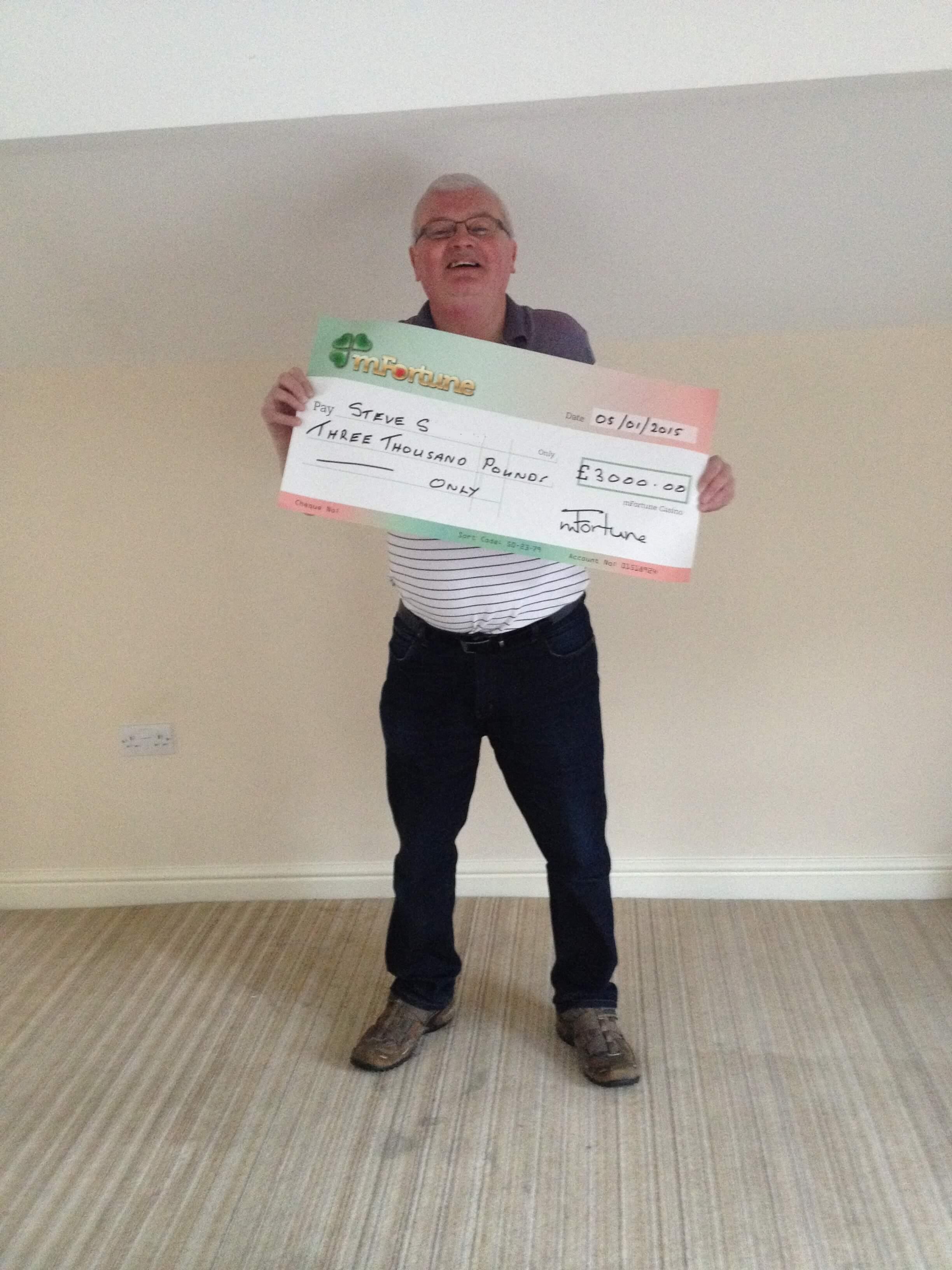 Steve S won £ 3,000