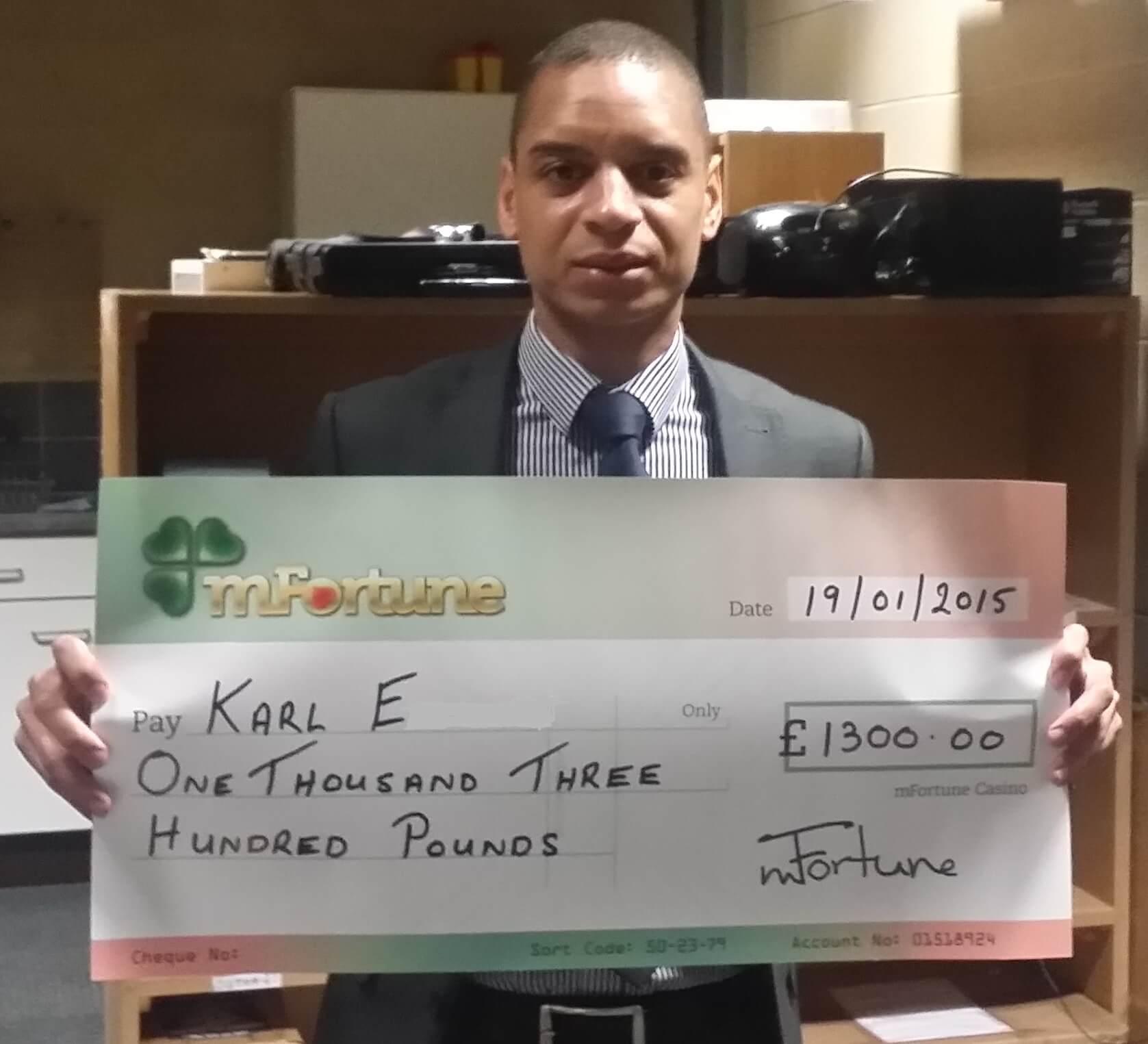 Karl E won £ 1,300