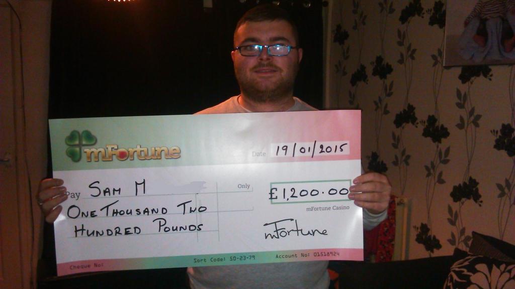 Sam M won £ 1,200