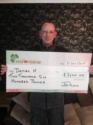 Damien H won £ 2,600