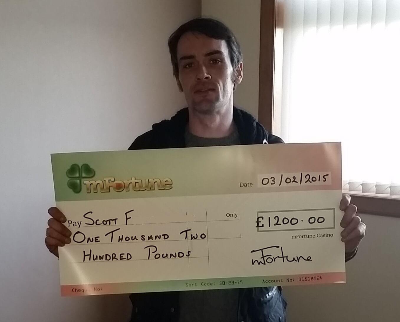 Scott F won £ 1,200