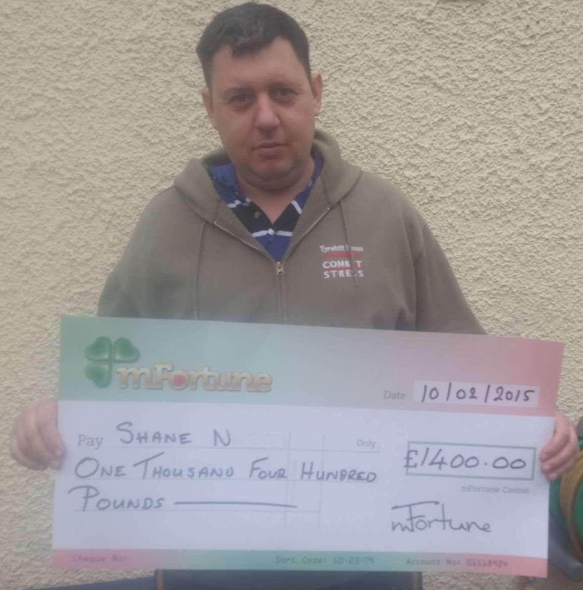 Shane N won £ 1,400