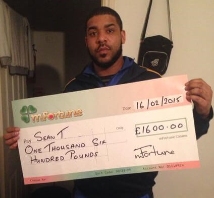 Sean T won £ 1,600