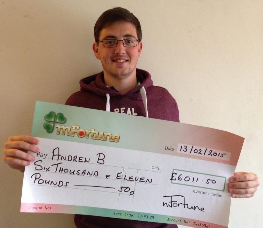 Andrew B won £ 6,011