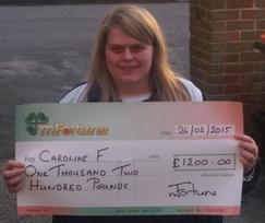 Caroline F won £ 1,200