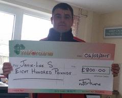 Jamie-Lee S won £ 800