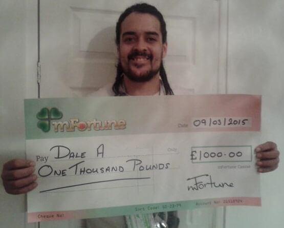 Dale A won £ 1,000