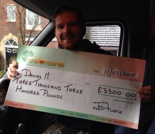 Daniel M won £ 3,300
