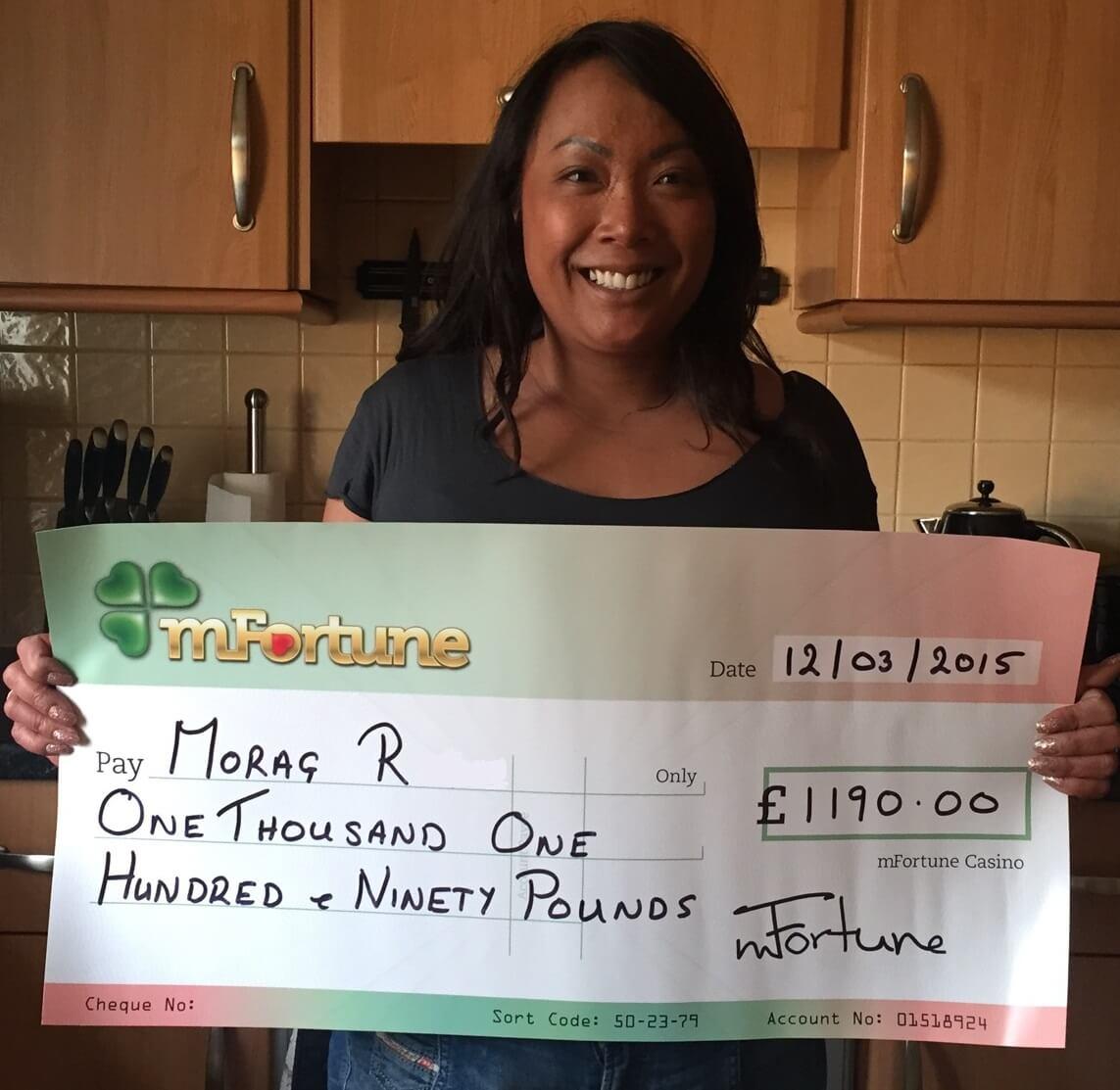 Morag R won £ 1,190