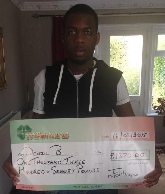 Denzil B won £ 1,370
