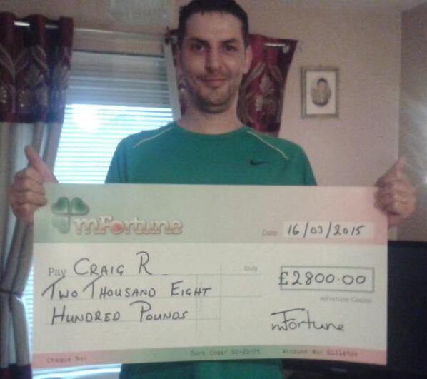 Craig R won £ 2,800