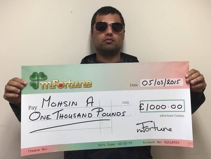 Mohsin A won £ 1,000