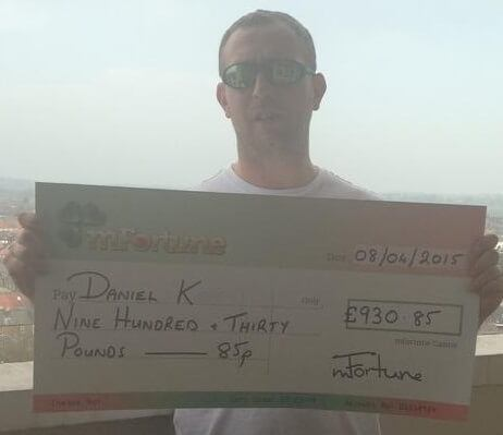 Daniel K won £ 930