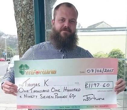 Thomas K won £ 1,197