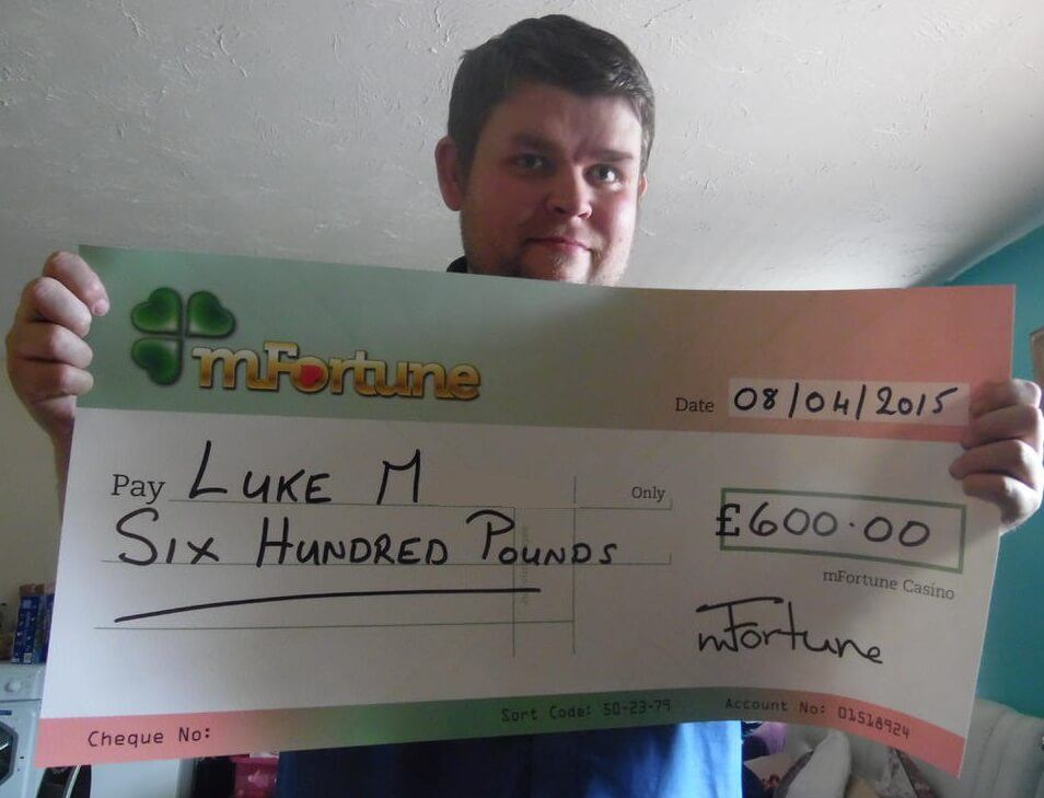 Luke M won £ 600