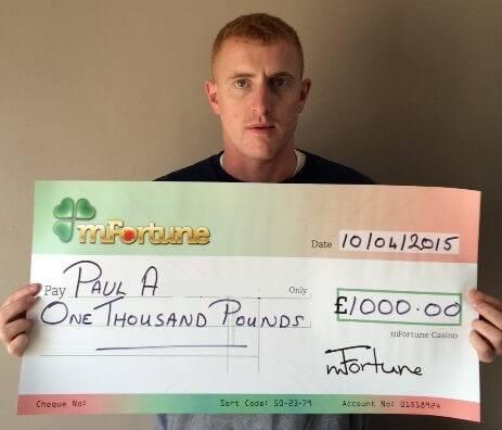 Paul A won £ 1,000