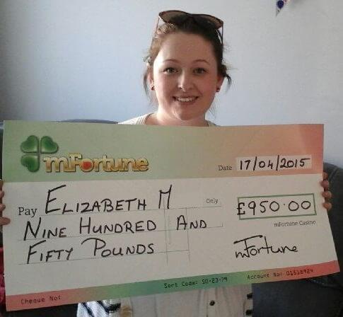 Elizabeth M won £ 950