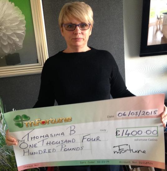 Thomasina won £ 1,400