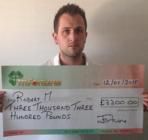 Robert M won £ 3,300