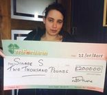 Sinade S won £ 2,000