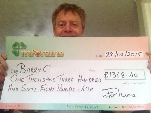 Barry C won £ 1,368