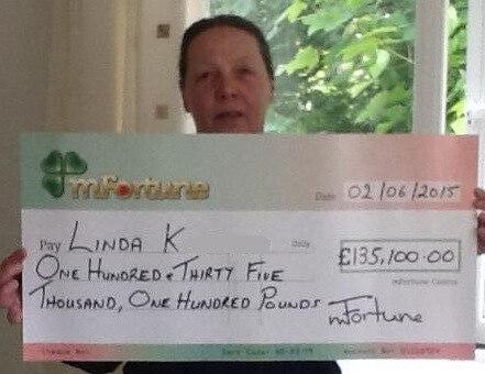 Linda K won £ 135,100