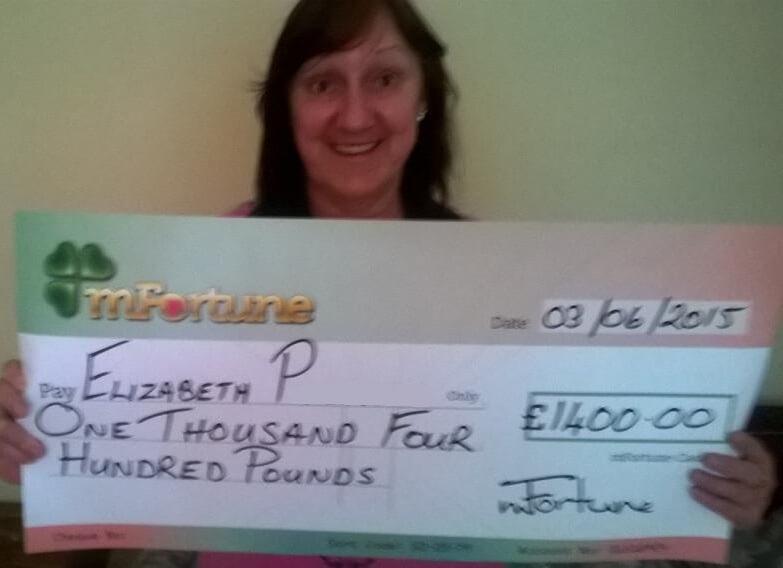 Elizabeth P won £ 1,400