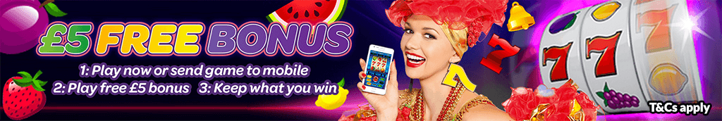 mFortune Fruit Machine £5 Free bonus