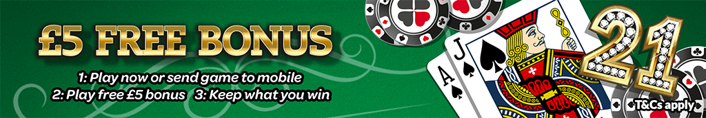 mFortune Blackjack £5 Free bonus