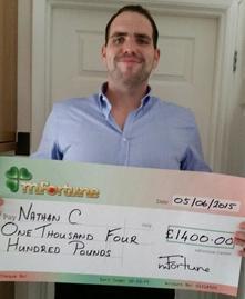 Nathan C won £ 1,400
