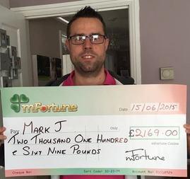Mark J won £ 2,169