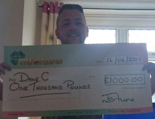 Dane C won £ 1,000