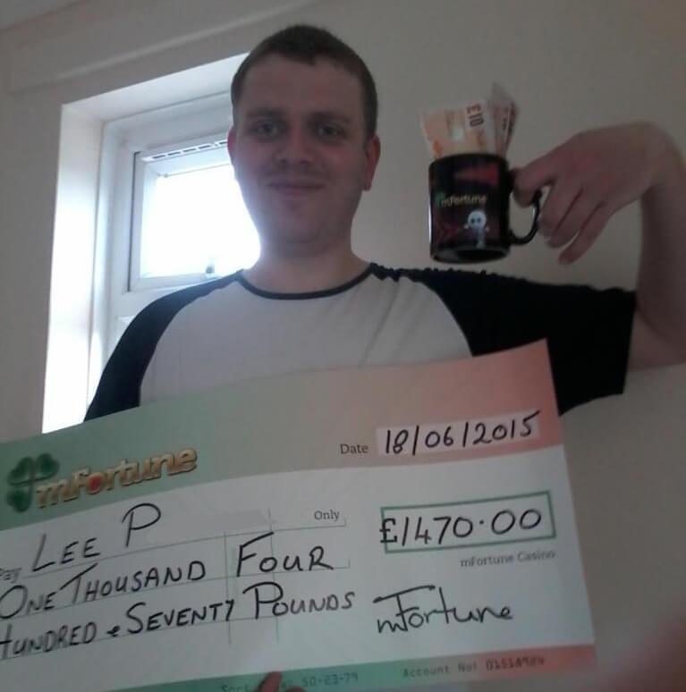 Lee P won £ 1,470