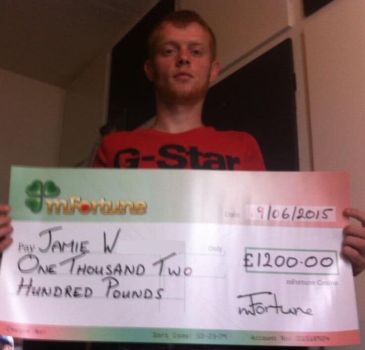 Jamie W won £ 1,200