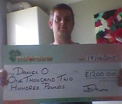 Daniel O won £ 1,200