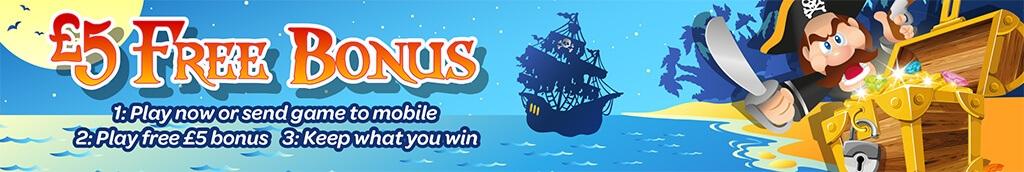 mFortune Pirates Treasure £5 Free bonus