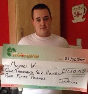 Michael W won £ 1,650
