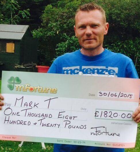 Mark T won £ 1,820