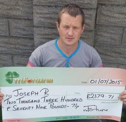 Joseph R won £ 2,379